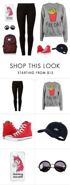 """""""easy friday"""" by binna81 on Polyvore featuring Dorothy Perkins, Adolescent Clothing, Converse, NIKE, Miss Selfridge, Linda Farrow and Superdry"""