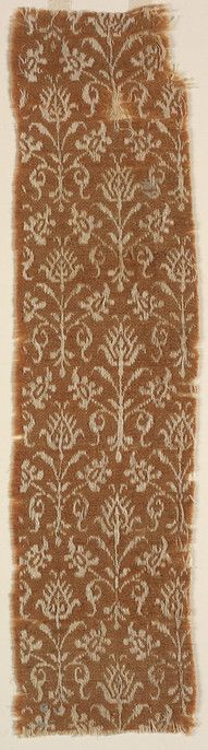Textile fragment Unknown artist, Italian Textile fragment, 16th century Wool; linen 07.155