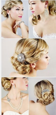 Pretty old Hollywood Glamour hair @Amanda Snelson Snelson Baker this would be so pretty for your wedding