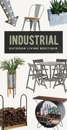 Industrial Outdoor Living Boutique: Spring is nearly here and that means it's time to start thinking about prepping your rooftop for some sunny urban parties. As the weather warms and the days stretch out, celebrate the season with these industrial outdoor essentials. Shop Now at dotandbo.com!