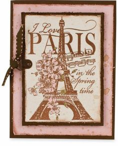 A great way to make a vintage card. You could use different stamps to make it any kind of card you want.