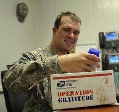 """How to send and save on military care packages.  This website """"anysoldier.com"""" looks so easy to use to send something to our soldiers.  I may have to use this!"""