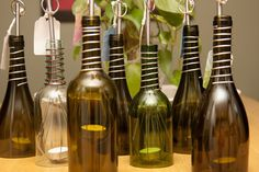 Upcycled Wine Bottle Luminary Hanging