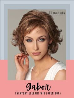 Everyday Elegant Wig by Gabor... Softly waved layers with sides that sweep back bring a touch of glamour to this shag and to any activity, any day. #wigs #wigsmaker #wifglife #hairstyle #haircolor