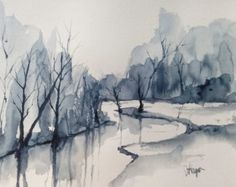 ORIGINAL painting Watercolor painting WATERCOLOR by pinetreeart