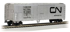 50' Canadian National Reefer (N Scale); Canadian National 50' Steel Reefer. N scale rolling stock is now shipping in clear plastic boxes for display and storage convenience. Get yours for $14.50 @ http://www.livelocomotion.com/product/BAC70963.