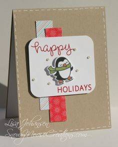 Lawn Fawn Winter Penguin Snowy Moose Creations