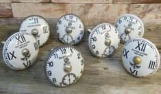 Vintage Antique Clock Face Cupboard Knobs - For the Home - - Vintage Clock Diy - Cupboard Door Knobs, Drawer Knobs, Cupboard Handles, Drawer Pulls, Cabinet Hardware, Shabby Chic Clock, Vintage Shabby Chic, Vintage Jars, Knobs And Handles