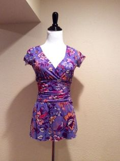 ANTHROPOLOGIE Floral Top by Sweet Pea SZ S