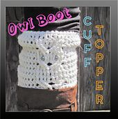 Ravelry: Owl Boot Cuff Toppers pattern by Megan Denham