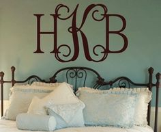 "put this above our bed... H on one side ""W"" on the other and our last initial in the middle?"