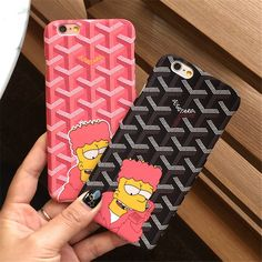 French Goyar Simpson Phone Case Cover For iPhone 7 7 Plus 6 Plus Fashion Cute Cartoon Exquisite Plastic Frosted Back Shell The Simpsons Movie, Simpsons T Shirt, Pc Cases, Mobile Phone Cases, Iphone Phone Cases, Bart Simpson, Coque Iphone 7 Plus, Apple Products