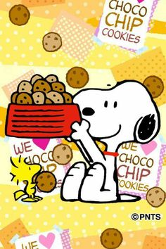 Snoopy , Woodstock and Chocolate Chip cookies!! What could be better than that?!