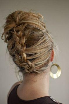 Formal French braid