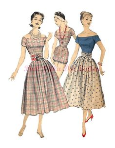 Vintage 1950s Advance 8313 Misses Playsuit by pinkpolkadotbutton, $80.00