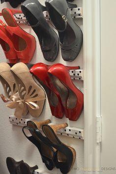 DIY High Heel Storage - Great tip!