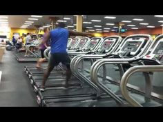 Amazing Treadmill Dance Moves Caught On Video~Guy takes treadmill workout to new level...Jogging is way too easy for this guy, whose smooth spins and moves have made him an instant star. Watch...