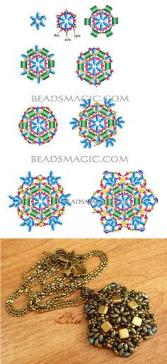 Free pattern for beaded Pendant Antique | Beads Magic