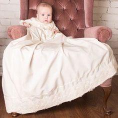 Baby Christening Outfit with Detachable Skirt Baby Christening Outfit, Baby Girl Baptism, Baptism Dress, Silk Romper, Romper Suit, Silk Bonnet, Flower Girl Dresses, Monogram, Etsy
