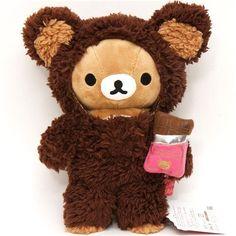 Rilakkuma plush toy brown bear chocolate suit   Kawaii   Pinterest