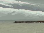 Danny Mooney 'Hastings pier, 23/12/2014' iPad painting #APAD