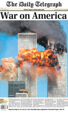 The September 11 attacks targeted locations in the United States, but their impact was felt across the world. International front pages published headlines and photos declaring everything from shock to pseudo-declarations of war. Newspaper Front Pages, Vintage Newspaper, Newspaper Wall, Newspaper Cover, Remembering September 11th, 11. September, World Trade Center Nyc, Trade Centre, Nine Eleven