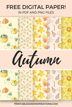 Free Printable Autumn Digital Paper Seamless Pattern For Scrapbooking - & kostenlose druckbare herbst digital paper seamless pattern für scrapbooking - & & Footprint thanksgiving art; Scrapbooking Image, Free Digital Scrapbooking, Digital Scrapbook Paper, Digital Papers, Scrapbooking Layouts, Digital Backgrounds, Printable Scrapbook Paper, Printable Paper, Scrapbook Paper Crafts
