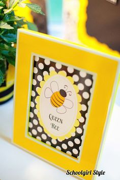"""queen bee on the teacher's desk, students could even be called the """"worker bees"""""""