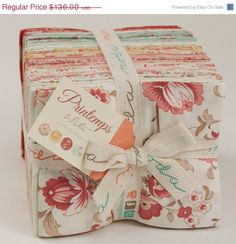 SALE 20% OFF PRINTEMPS Fat Quarter Bundle of Quilting Fabric by 3 Sisters for Moda by FabricSweets