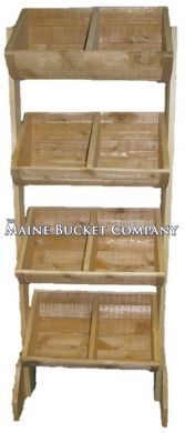Custom Wooden Bin Shelving Rack  Display for pantry food