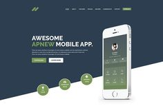 Apnew - Landing Page Template by DevItems on @creativemarket