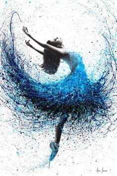 Ocean Mist Dance Art Print by AshvinHarrison - X-Small Art Ballet, Ballet Painting, Dance Paintings, Painting & Drawing, Dancer Drawing, Dream Painting, Painting Tattoo, Ballet Dancers, Ballet Drawings