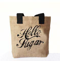 Hello Sugar Tote Bag Southern Greeting Tote bag by AmoreBeaute