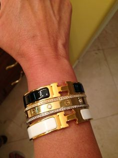 Cartier LOVE bracelet Discussion - Page 573 - PurseForum Hermes Bracelet, Hermes Jewelry, Cartier Love Bracelet, Luxury Jewelry, Bangle Bracelets, Jewelry Box, Jewelry Watches, Jewlery, Bangles