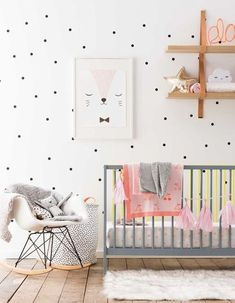 How to have fun with polka dot decor baby nursery inspiration kids bedroom girl room ideas pink and gold