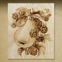 Gallery 8 Pyrography Illustrations on Birch by Cate McCauley