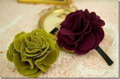 T-shirt fabric flowers for embellishing......anything and everything!