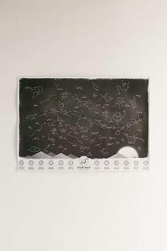 Carte de ciel étoilé phosphorescente à gratter