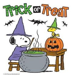 Snoopy and Woodstock - Trick or Treat