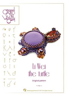 Li wei the turtle– PDF instruction for personal use only – Gábriel the gekko by beadsbyvezsuzsi on Etsy