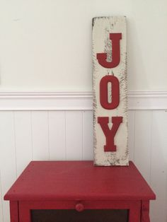 Decorative Wood Pallet JOY sign by TillyandTuck on Etsy