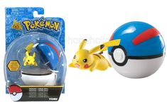 Pokemon Clip And Carry Pikachu And Great Ball Pokemon Go, Pikachu, Baking Accessories, Id Tag, Toy Sale, Cool Toys, Wall Stickers, Carry On, Kids Toys