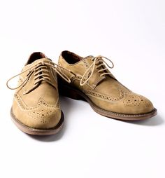 Men's Taupe Wingtip Shoe - Men's wingtip dress shoe. Great shoe for lightweight summer suits. Man made upper and heel/sole, - Mens Casual Dress Shoes, Men Dress, Mens Wingtip Shoes, Thing 1, Summer Suits, Gentleman Style, Men's Shoes, Taupe, Oxford Shoes