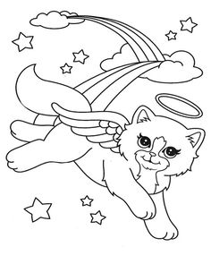 lisa frank fairy coloring pages - photo#18