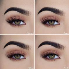 Geheimnisse eines schönen Make-ups für grüne Augen Secrets of a beautiful make-up for green eyes Makeup Inspo, Makeup Tips, Beauty Makeup, Face Makeup, Basic Makeup, Eyeliner Makeup, Makeup Products, Bridal Makeup, Wedding Makeup