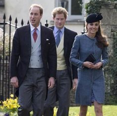 William, Harry, and Kate
