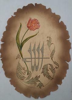 lale 2015-09 Turkish Decor, Turkish Art, Islamic Calligraphy, Calligraphy Art, Islamic Art, Art Boards, Flower Art, Eminem, Folk Art