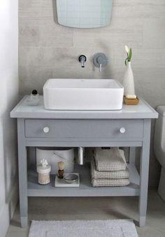 Contemporary Art Websites How to turn a desk into a bathroom vanity using Holly Hanshew Hanshew Alex Paint