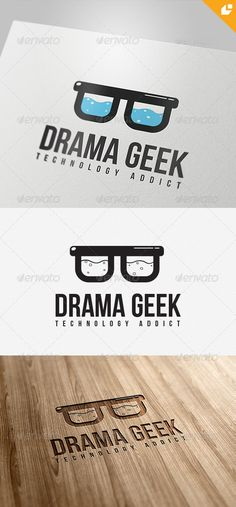 Drama Geek Logo  #GraphicRiver        Drama Geek – Logo Template  	 This logo design for creative company.  Logo Template Features   AI and EPS 300PPI  CMYK  100% Scalable Vector Files  Easy to edit color / text  Ready to print  Font information at the help file 	 If you buy and like this logo, please remember to rate it. Thanks!     Created: 4April13