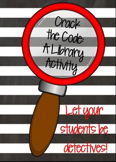 Last week I stumbled upon a great activity that my students in grades absolutely LOVED! First, we read the book Kate Warne, Pinkerton Detective by Marissa Moss. This fiction book is based on th… School Library Lessons, Library Lesson Plans, Middle School Libraries, Elementary School Library, Library Skills, Upper Elementary, Elementary Schools, Library Games, Library Events